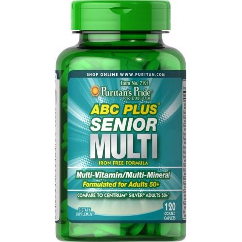 Витамины 50+ ABC Plus® Senior Multivitamin Multi-Mineral Formula 120 каплет