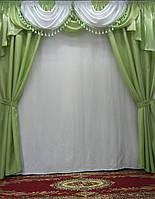 "Комплект штор с ламбрекеном из монорея ""Ангелина"", фото 1"