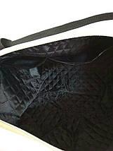 Черная большая сумка из матового кожзама с ремешками по бокам, фото 3
