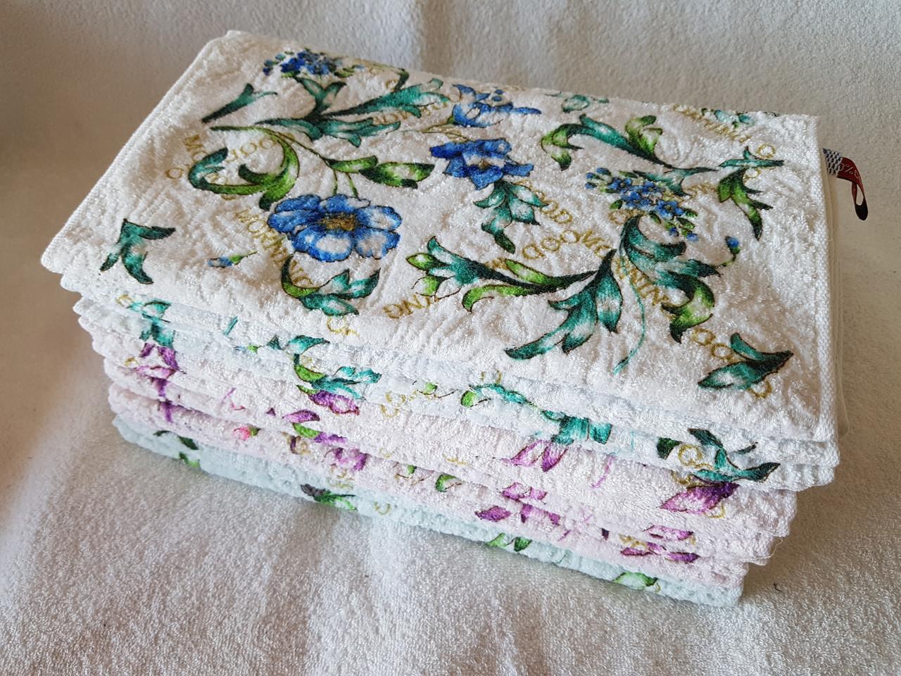 """Кухонное полотенце """"Цветы светлые"""""""