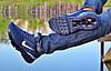Кроссовки мужские синие Nike Air Max 360 сетка реплика, фото 4