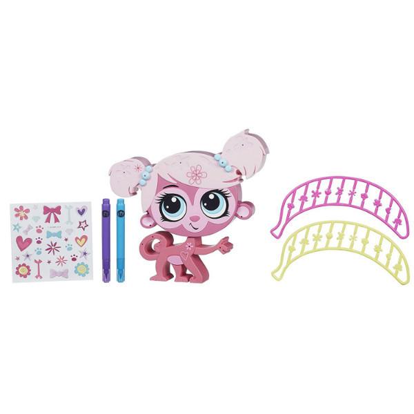 Littlest Pet Shop Укрась зверюшку обезьянка Минка Марк Обновленный Store 'n Style Minka Mark Pet