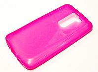 Чехол силиконовый однотонный для LG G2 mini d618 розовый
