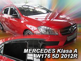 Дефлекторы окон (ветровики)  Mercedes A-klasse W-176 2012 -> 5D 4шт (Heko)