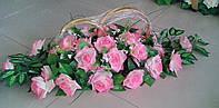 """Свадебные кольца для авто """"Розовая корзинка"""""""