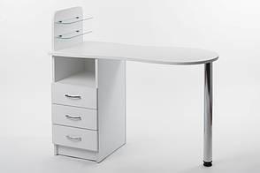 Маникюрный стол со стеклянными полочками под лак Платон 2, фото 2