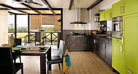 Кухня оливковая комби