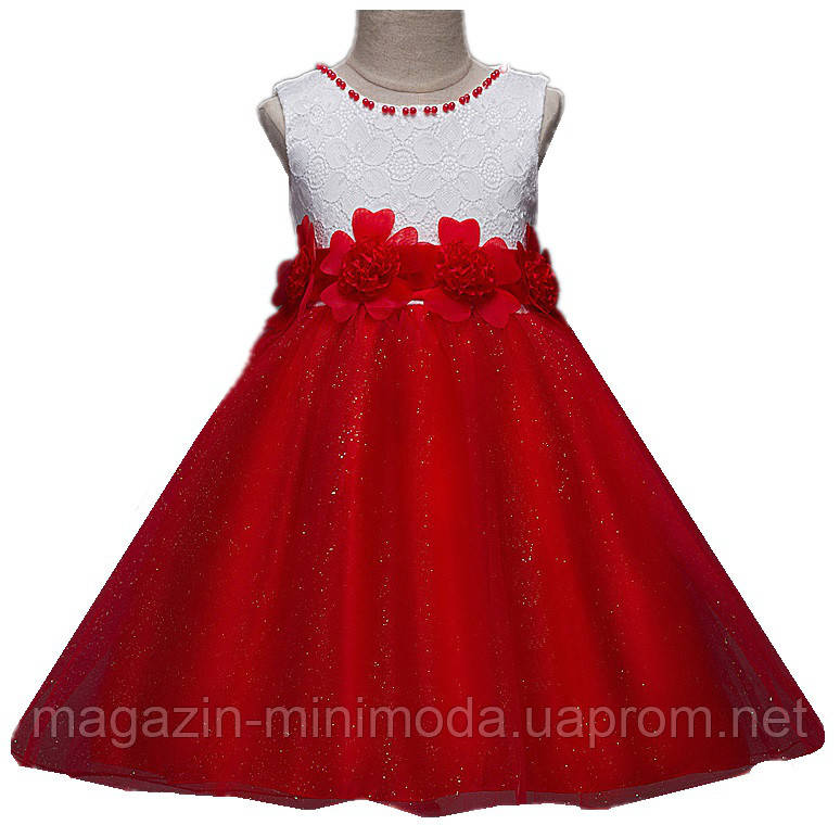076baf9dd80e0d4 Красное платье в бусинах и цветах: продажа, цена в Киеве. платья и ...