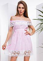 Платье с ажурным кружевом  хлопок