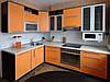 Кухня угловая оранж
