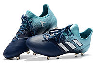 Футбольные бутсы adidas Ace 17.1 Leather FG Energy Aqua/White/Legend Ink, фото 1