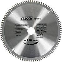 Пильный диск (круг) по алюминию YATO (YT-6095) 250х30х3.0x2.2 мм TCT 100Т