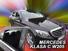 Дефлекторы окон (ветровики)  Mercedes C-klasse 205 2014 -> 4D Sedan 4шт (Heko)