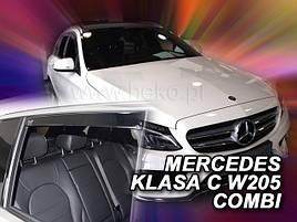 Дефлекторы окон (ветровики)  Mercedes C-klasse 205 2014 -> Combi 4шт (Heko)