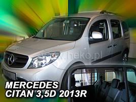 Дефлекторы окон (ветровики)  Mercedes CITAN W415 2012R 3/5D 4шт (Heko)