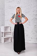 """Длинная женская юбка из габардина """"DRESS"""" с карманами (2 цвета), фото 2"""
