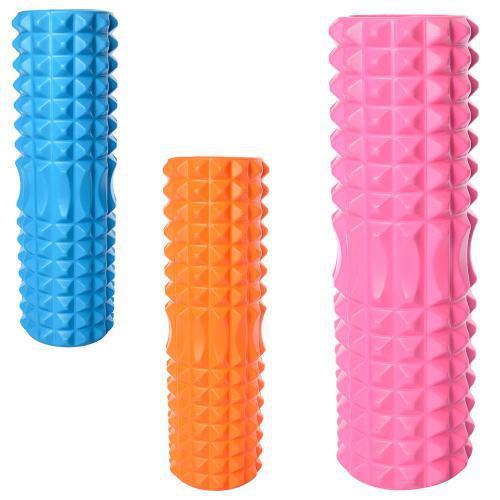 Массажер MS 1843 рулон для йоги,диам.14см, длина45см, 3цвета,в кульке, 45-14см