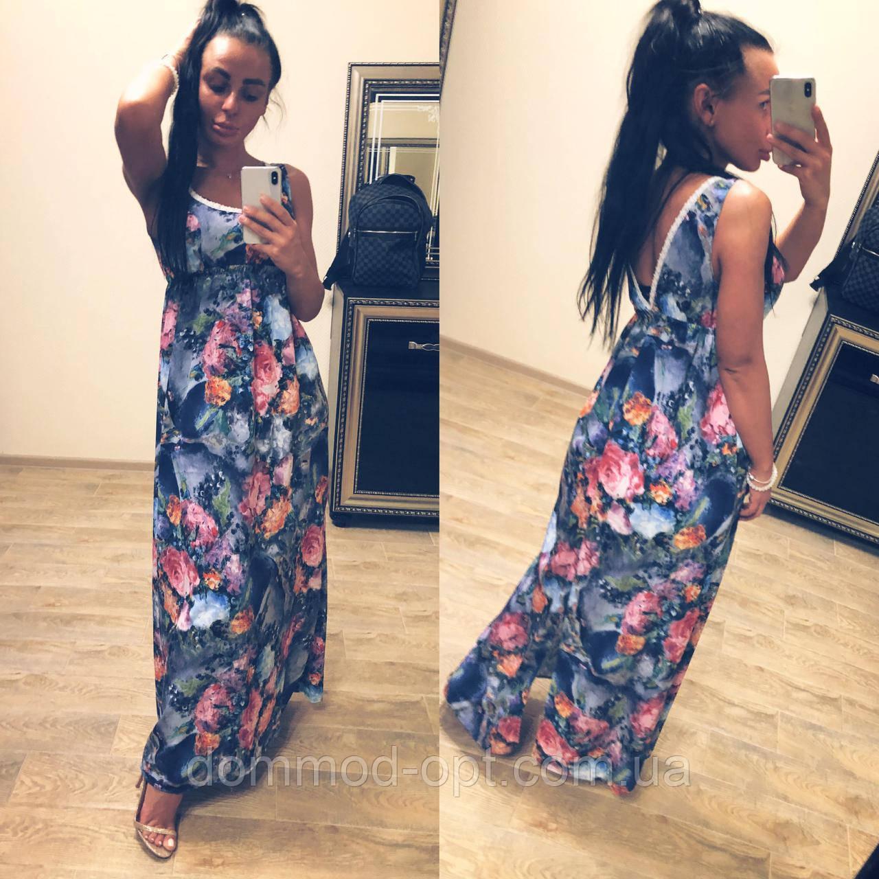 4ec96101bc1 Легкое летнее платье Dress   абстракт синий купить в Украине по ...