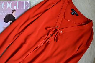 Красная блуза со шнуровкой Atmosphere, фото 3