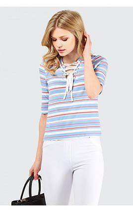 Новая футболка в полоску со шнуровкой Select, фото 2