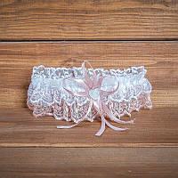 Подвязка для невесты цвета пудры (арт. G-014-1)