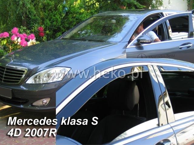 Дефлекторы окон (ветровики) Mercedes S-klasse 221 2007-2013 4шт (Heko)23262