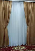 "Комплект штор орехового цвета ""Лина"", фото 1"