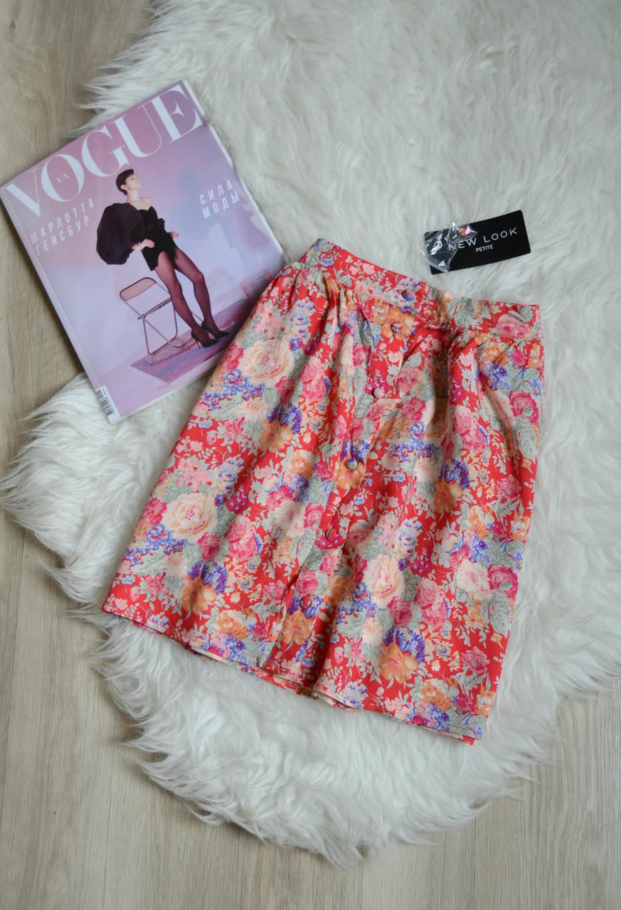Новая цветочная короткая юбка с пуговичками New Look