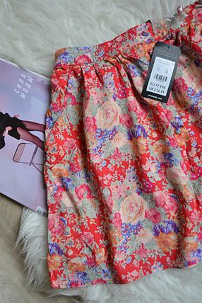 Новая цветочная короткая юбка с пуговичками New Look, фото 2