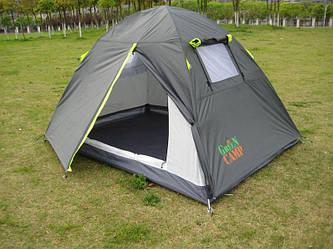 Двухместная туристическая палатка Green Camp 1001 А с тамбуром
