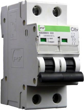 Автоматический выключатель Промфактор City AB2000 2р С25А, фото 2