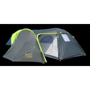 Палатка Green Camp 1009  туристическая для отдыха или кемпинга 4-х местная