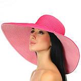 Шляпа малиновая  с широкими полями 18 см принимающая любую форму, фото 2