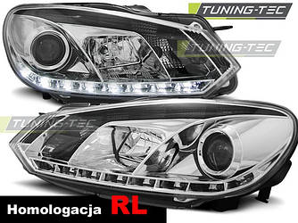 Передние фары тюнинг оптика Volkswagen Golf 6