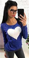 Свитерок женский ангоровый с сердцем  аан1123, фото 1