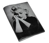 Обложка на паспорт Мерлин Монро (натур. кожа)