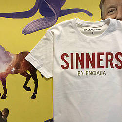 Футболка Sinners Balenciaga| Топ качество