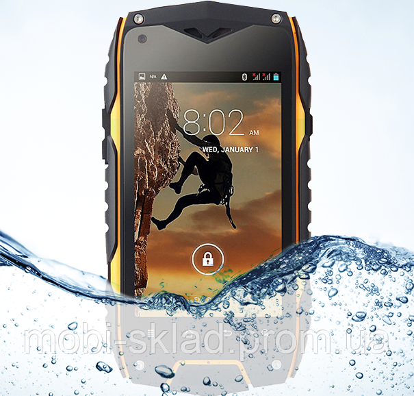 "Защищенный смартфон Jeep Z6 IP68, Gorilla Glass, IPS-дисплей 4"", GPS, 3G, 2500 мАч."