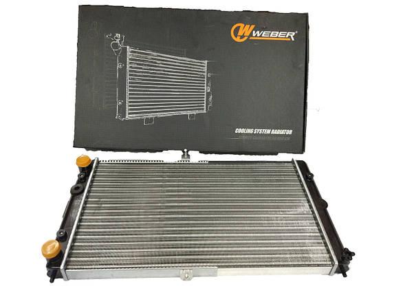 Радиатор охлаждения (2110-12) WEBER алюм., фото 2