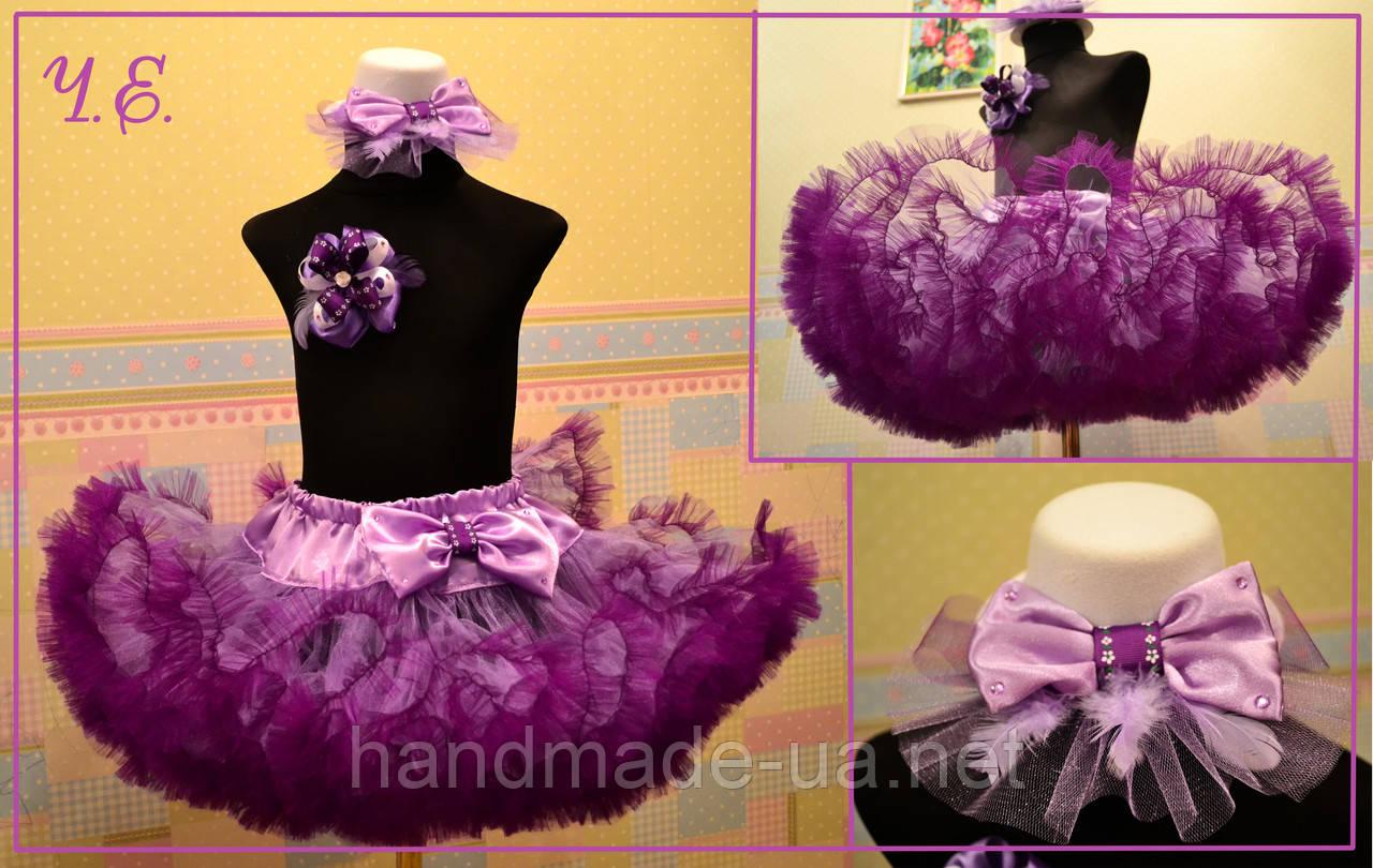 4a591f7297d Фиолетово - сиреневая юбка американка