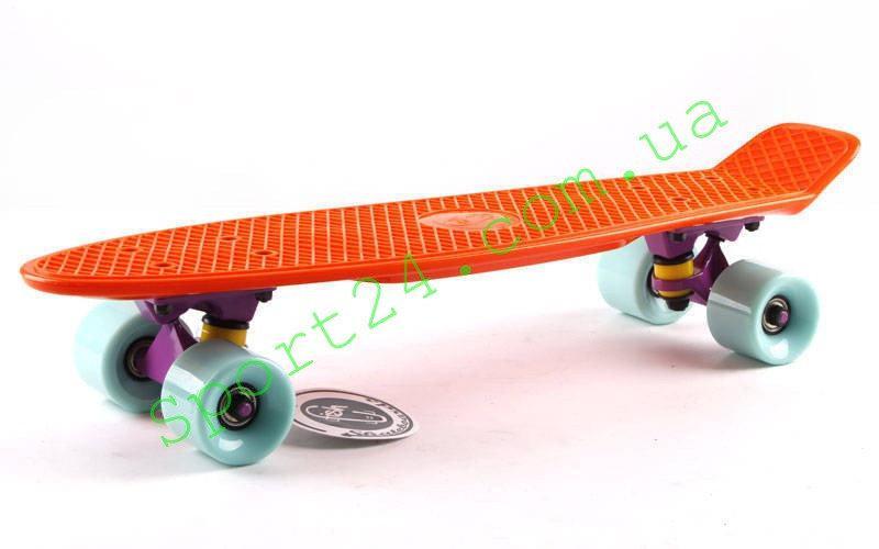 Оранжевый пенни борд 22 Фиш мятные колеса (penny board fish)