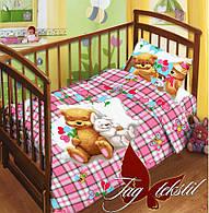 Копия Комплект постельного белья в кроватку Детство