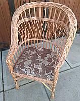 Кресло плетеное с мягкой сидушкой, фото 1