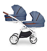 Детская универсальная коляска 2 в 1 для двойни Easy Go 2OFUS Denim
