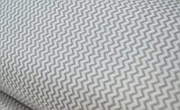 Тканина. Бавовна сірий з дрібним зигзагом. Відріз 50х40см