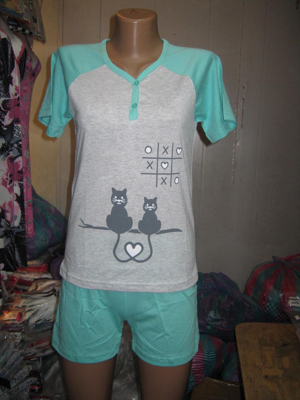 216fc4053d63 Пижама женская Blue Night Футболка и шорты Коты: продажа, цена в ...
