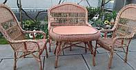 Садовая плетеная мебель с большим столом, фото 1