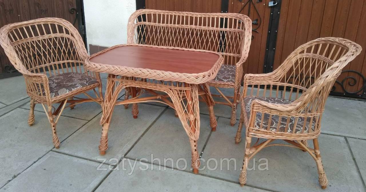 Плетеная мебель для лоджии