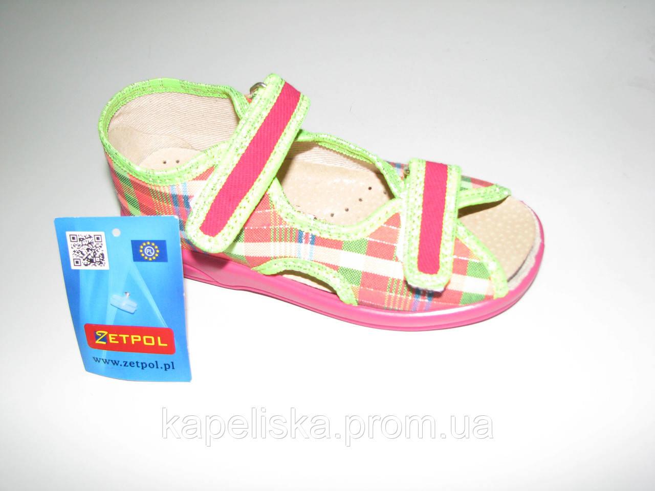 Zetpol тапочки для девочки, босоножки , босоніжки для дівчинки