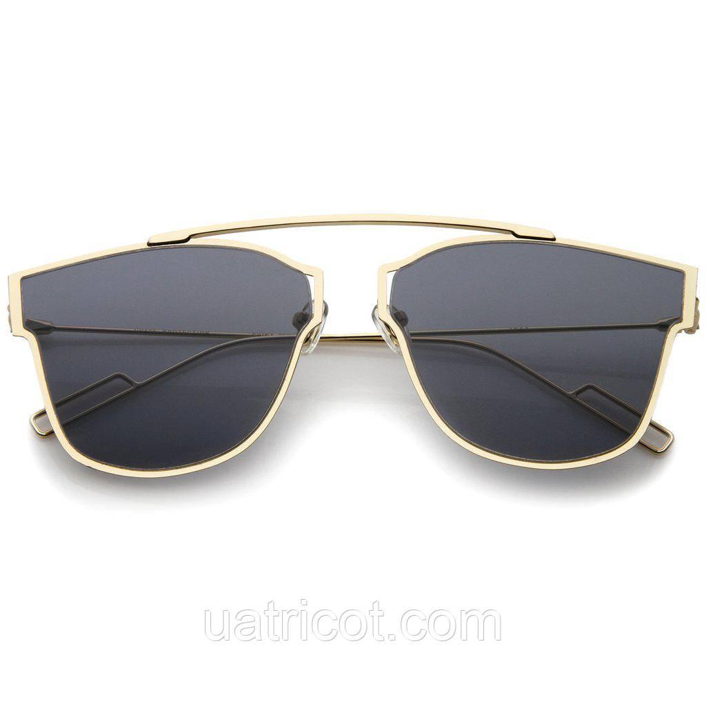 Женские солнцезащитные очки ультратонкие Aviator с линзой смоки